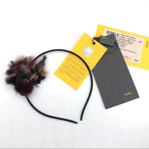 Fendi Authentic Genuine Mink Fox Fur Thin Headband